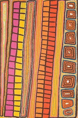 PATRICK OLODOODI TJUNGURRAYI (1943 -) - My Lilly, 2001 150 x 100 cm