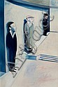 ROBERT DICKERSON (born 1924) - In the Foyer 1987 oil on composition board, Robert Dickerson, Click for value