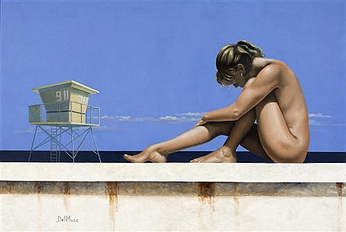JILL DEL MACE (born 1947) - The Sunbather oil on canvas