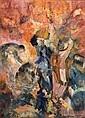JUDY CASSAB (born 1920) - The Group 1986 oil on canvas, Judy Cassab, Click for value