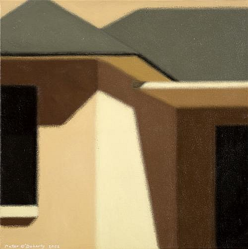 PETER O'DOHERTY (born 1958) - House with Porch 2002 oil on canvas