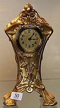 Art Nouveau American Gilt Metal Clock