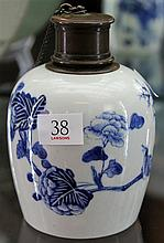 Chinese Blue & White Tea Jar