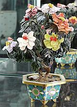 Chinese Stone Tree on a Cloisonne Stand