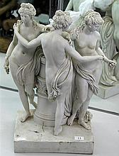 Parian Ware Three Graces Figural Group (restored)