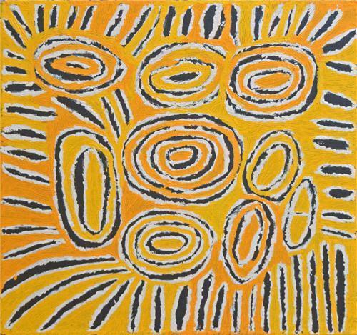 Tjunkiya Napaljarri (1928 - 2009) - Untitled 57 x 61cm