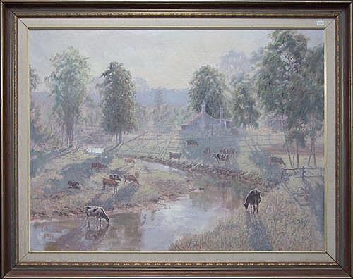 Reginald Rowe - Autumn Sunrise Southern Highlands 90 x 120cm