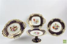 Early Victorian Chamberlains & Co Worcester Porcelain Desert Service