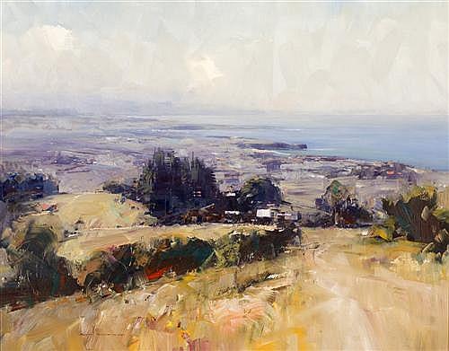 KEN KNIGHT (1956-,) - Coastal View 94.5 x 120.0 cm