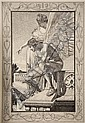 MAX KLINGER (1857-1920, German) - Amor und Psyche - Opus V , 1880