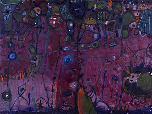 PETER FERGUSON (1956-,) - Crimson Reef 136.0 x 182.5 cm