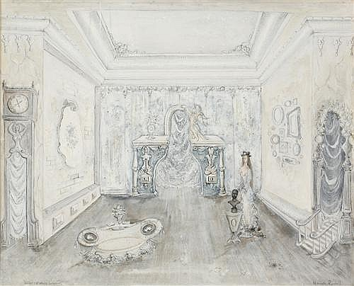 KENNETH ROWELL (1920-1999) - White Interior 40.0 x 50.0 cm