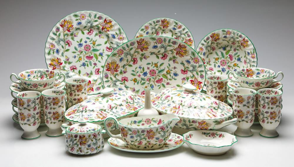 A Minton 'Hadden Hall' Dinner Suite for Six