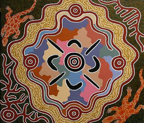 Michael Nelson Tjakamarra - Untitled 107 x 99cm