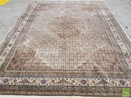 Fine Indian Tabriz Wool Carpet Possibly With Silk Inlays W