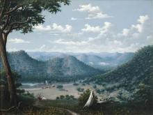 Alfred William Eustace (1820 - 1907) - The Ups and Downs of Australia 44.5 x 60cm