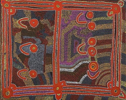 JUDY NAPANGARDI WATSON (born c1925) - Karnta Jukurrpa (Women's Dreaming) 1989 61.0 x 76.0 cm