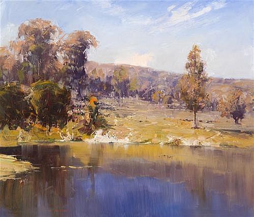 KEN KNIGHT (born 1956) - Spring at Webster's Dam 83.0 x 99.0 cm