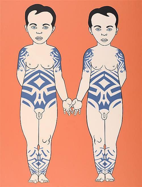 ALISON BURTON (born 1951) - Doppelganger 2002 175.0 x 135.0 cm