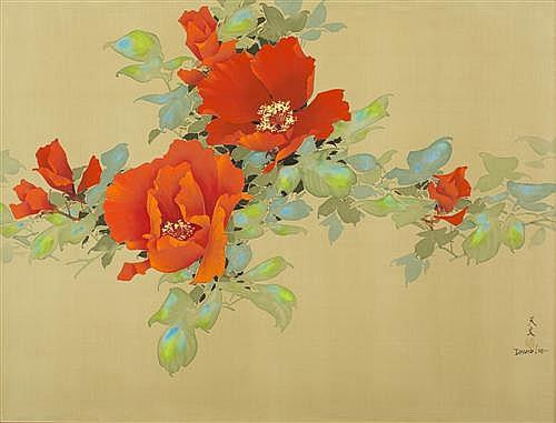 DAVID LEE (born 1944, Chinese) - Still Life Floral 75.0 x 100.0 cm