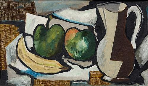 ELWYN LYNN (1917-1997) - Still Life with Friut 24.0 x 40.0 cm