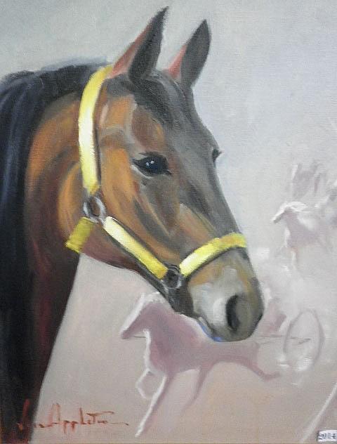JEAN APPLETON (1911-2003) - Horse 60 x 44xm