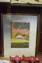Anneke Silver (1937 - ) - Pink Homestead 36 x 25cm