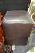 Pair of Leather Footstools