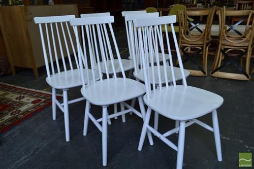 Cool Set Of Six White Spindle Back Dining Chairs Alphanode Cool Chair Designs And Ideas Alphanodeonline