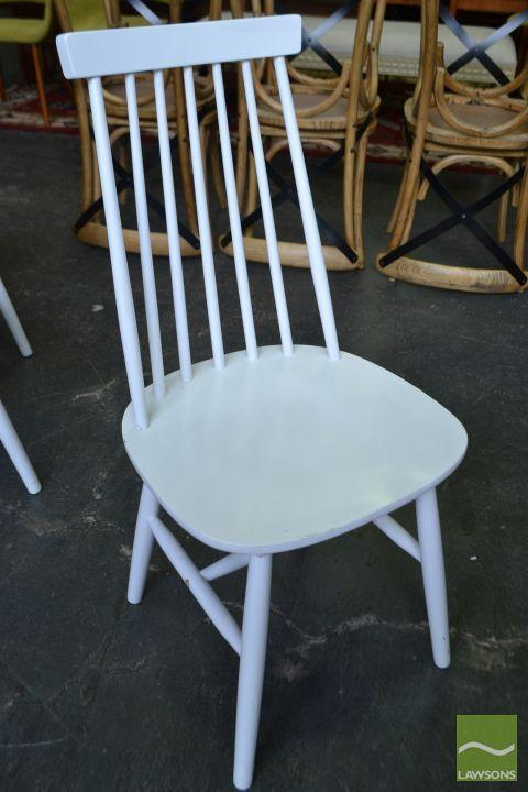 Astounding Set Of Six White Spindle Back Dining Chairs Alphanode Cool Chair Designs And Ideas Alphanodeonline