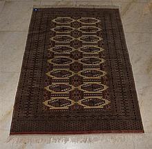 Persian Turkman silk and wool rug 210 x 140cm