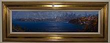 Ken Knight (1956 -) - Glimpse Of The City, Kurraba 26 x 100cm