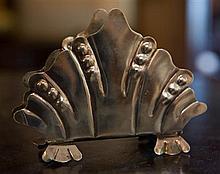 A Hallmarked silver Art Deco letter rack