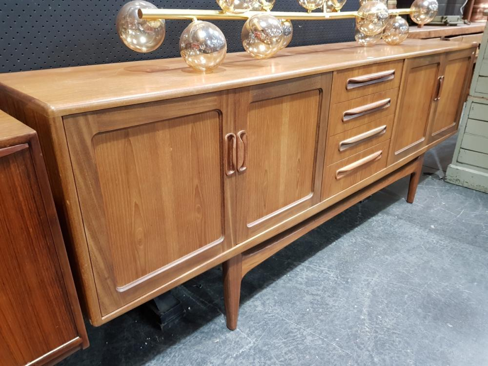G Plan Fresco Teak Sideboard with 4 Doors and 4 Central Drawers