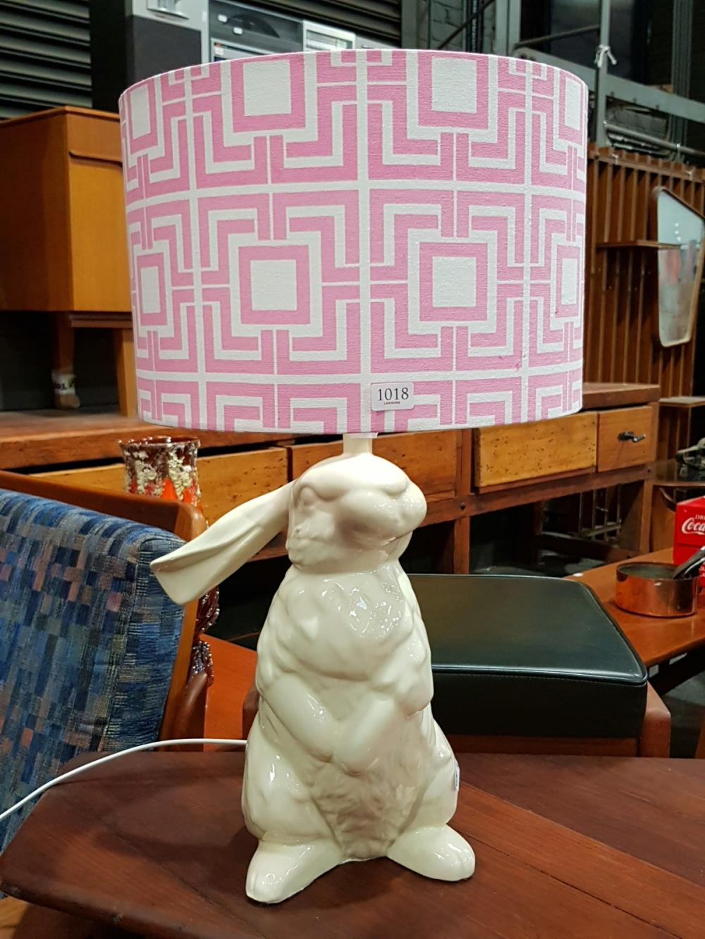 Studio Australia Ceramic Rabbit Form Lamp