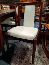 Lot 1019: Teak 7 Piece Dining Suite inc Table and 6 Leather Upholstered Chairs
