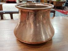 Lot 1035: French Copper Jardiniere, height: 25cm, diameter: 27cm (at opening)