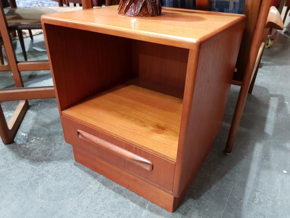Pair G Plan Bedside Lockers with Single Drawer and Open Face