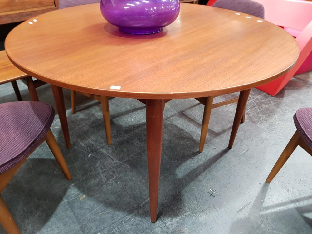 Vintage Round Teak Dining Table