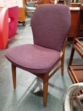 Lot 1045: Set of 4 Upholstered Vintage Dining Chairs