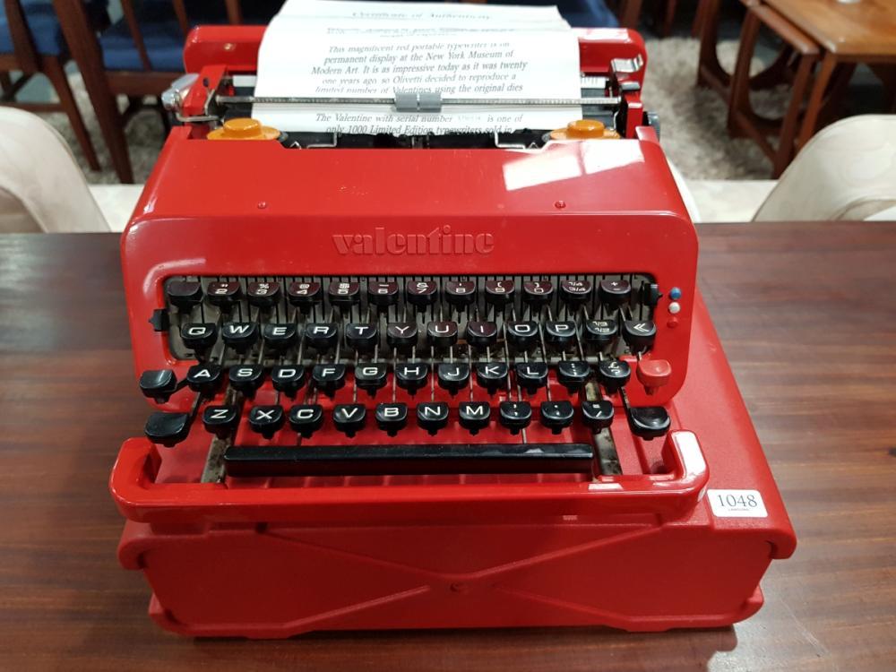 Valentine Olivetti Typewriter in Case