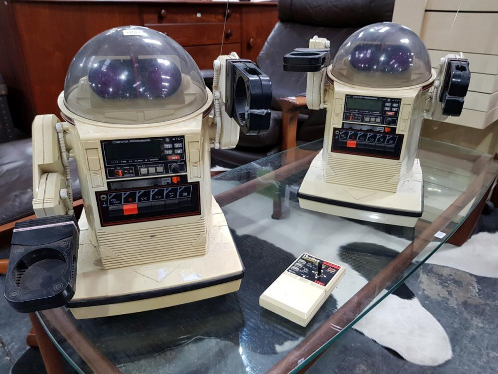Tomy Robot Cassette Players x 2 and One Remote