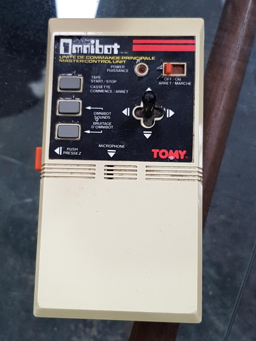 Lot 1057: Tomy Robot Cassette Players x 2 and One Remote