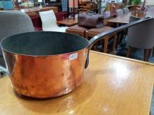 Lot 1072: Large French Copper Saucepan D: 25cm
