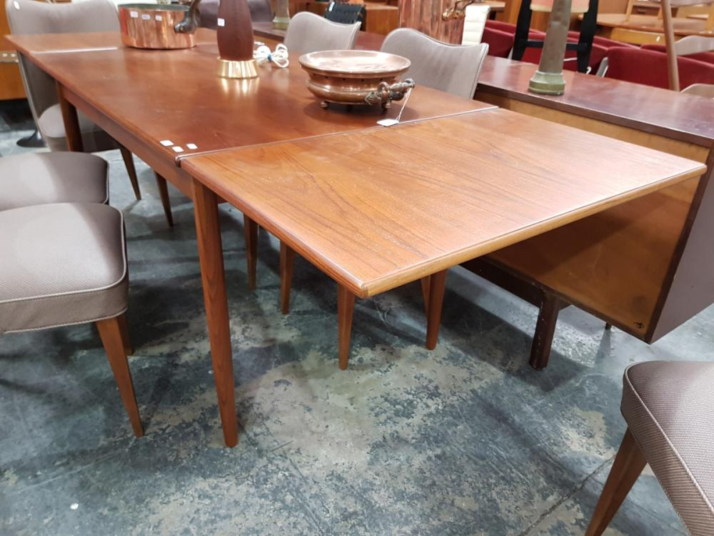 Teak Extension Dining Table with Drawer Leaves