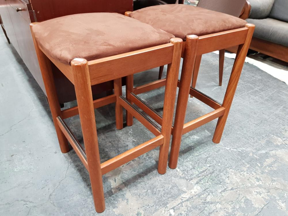 Pair of Suede Top Chiswell Stools