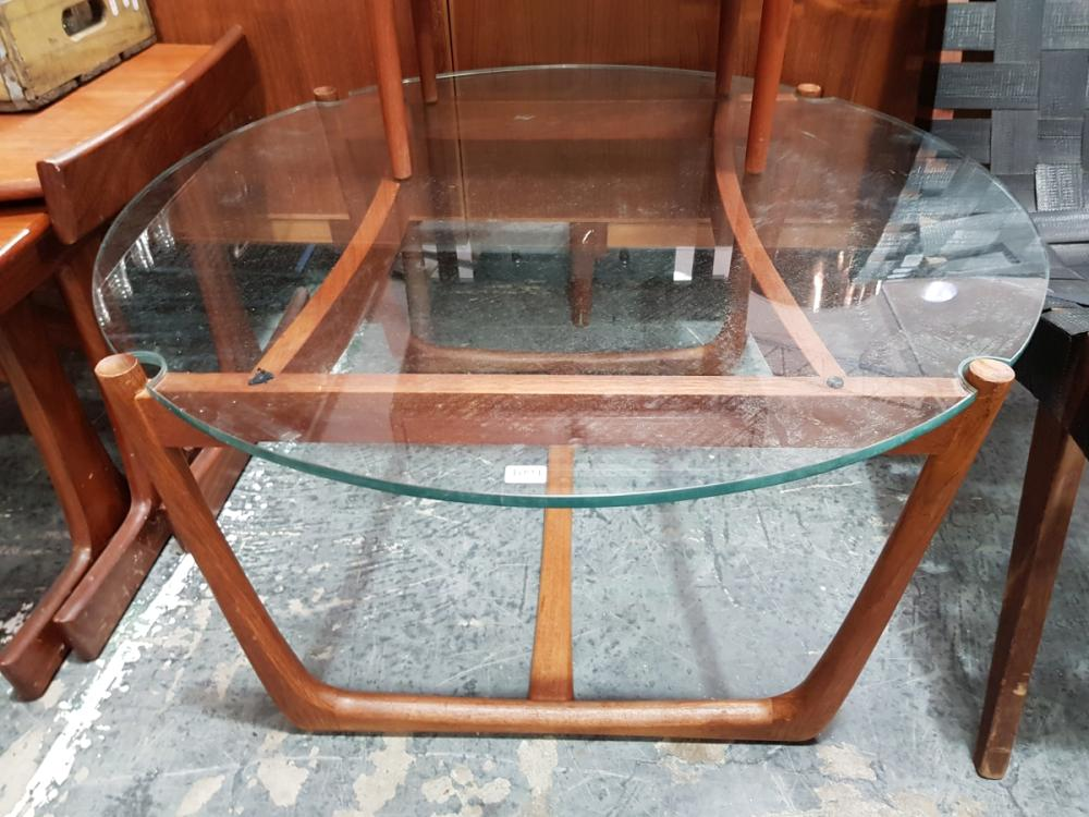 Lot 1094: Quality G Plan Coffee Table with Glass Top