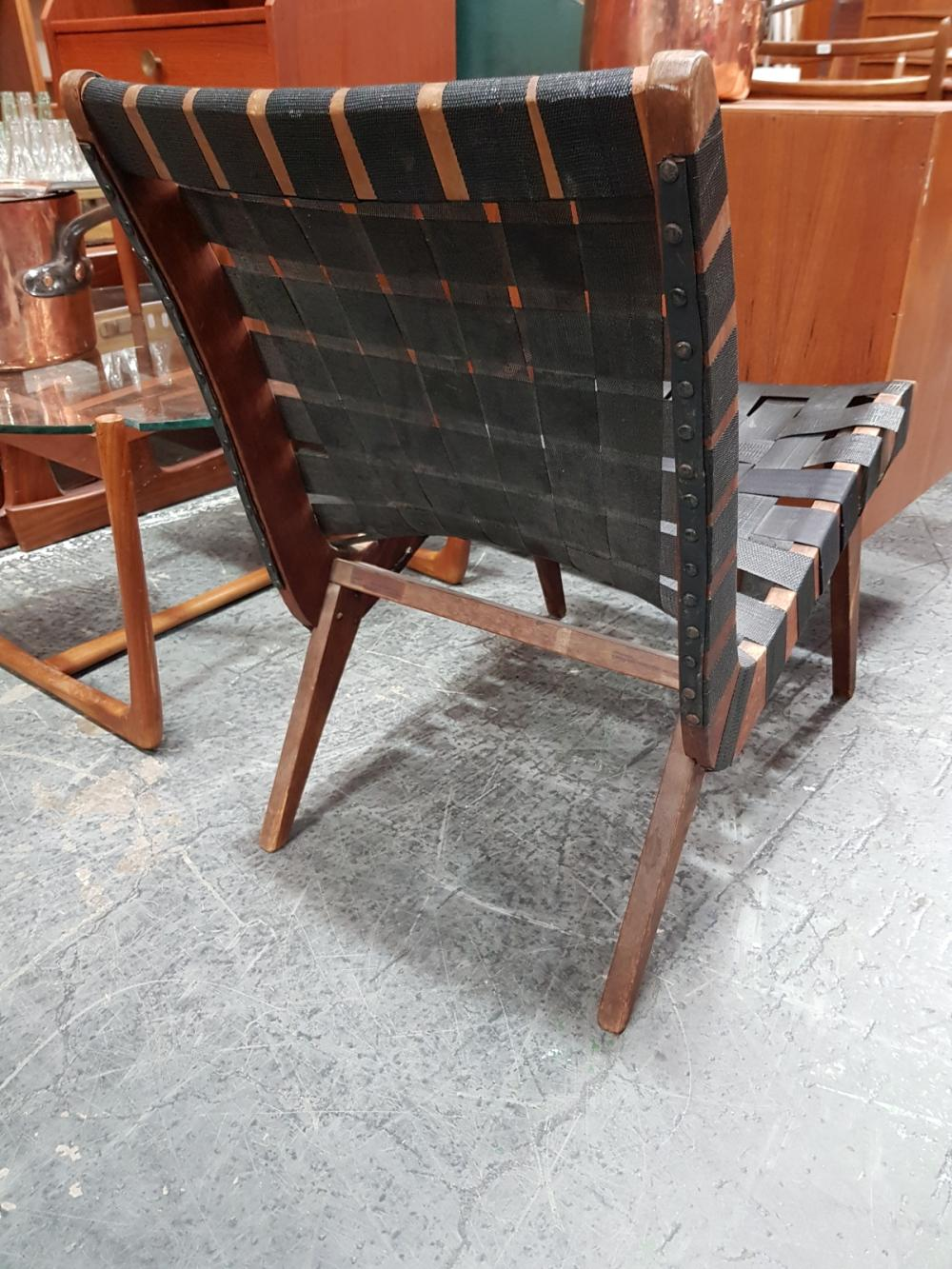 Lot 1095: Webbed Lounge Chair by Douglas Snelling