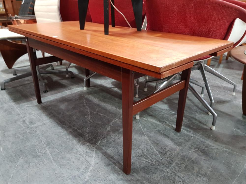 Quality Danish Teak Metamorphic Dining/Coffee Table