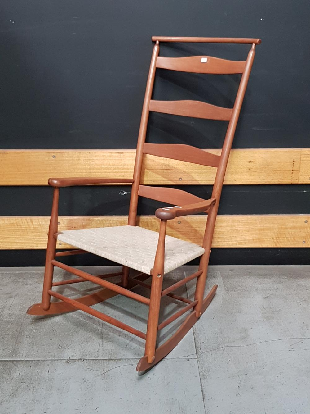 American Maple Ladder Back Rocking Chair